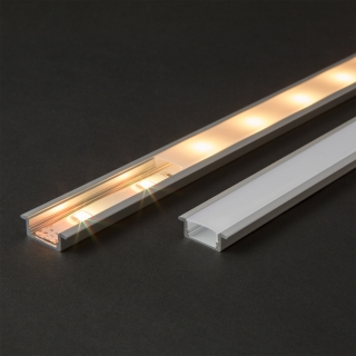 LED aluminium profil sín 2000 x 23(17) x 8 mm
